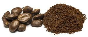 mielona kawa i ziarna kawy